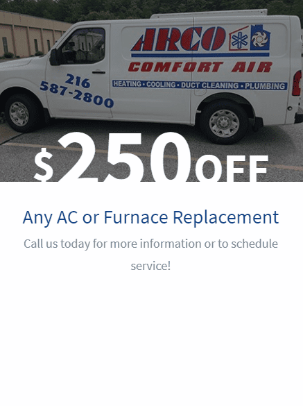 $250 Off Any AC or Furnace Replacement